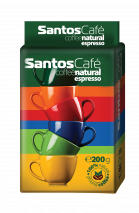 Coffee Santos cafe natural espresso 200g.